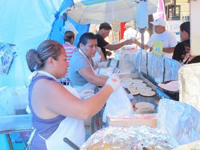 Fresh-made tortillas in East Harlem