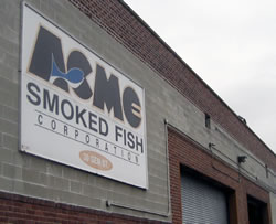 Acme Smoked Fish Factory in Greenpoint Brooklyn